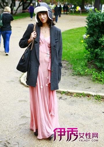 秋冬搭配|欧美街拍|夏装冬穿|连衣裙|外套