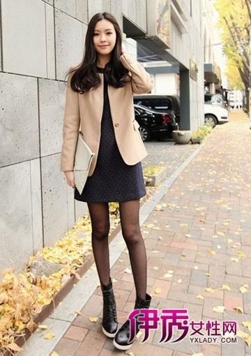 冬装外套|裙子|连身裙|秋冬搭配|韩国街拍