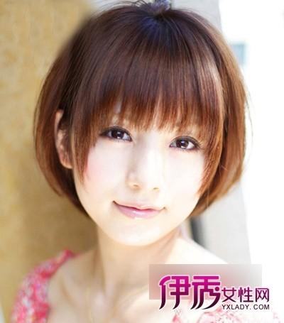 日本氧气美女圆脸短发发型【图】