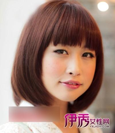 日本氧气美女圆脸短发发型